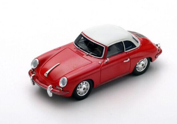 Spark Model 1 43 s4922 Porsche 356C Cabriolet 1963 Hard-top rouge blanc Roof NEW