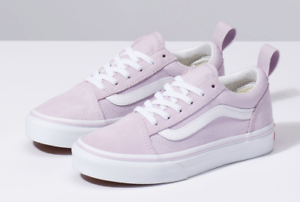 76de35c0cd6 VANS KIDS OLD SKOOL Elastic Lavender fog  True White CLASSIC SKATE ...
