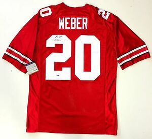 new concept 143b8 ef8d1 Details about MIKE WEBER SIGNED OHIO STATE BUCKEYES NIKE JERSEY PSA/DNA  ROOKIE GRAPH COA