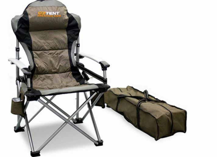 NEW OZTENT KING KOKODA CHAIR  PADDED POLYESTER ADJUSTABLE HEAVY DUTY CAMP HIKING  fitness retailer