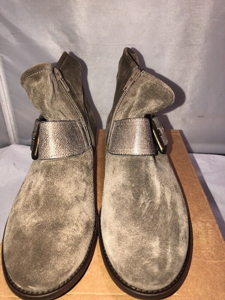 NEW Paul Green  Buckle Booties Suede /Us 7