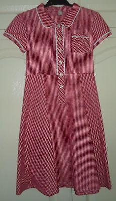 New Girls Red Gingham Cotton Rich Teflon School Uniform Culotte Dress Playsuit