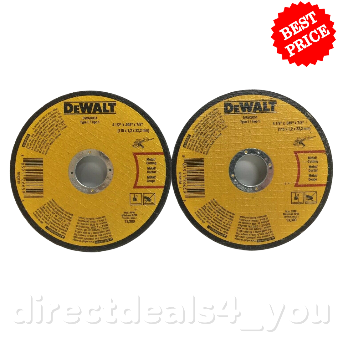 DEWALT Set of 10 DWA8051C Concrete /& Masonry Grinding Wheels 4-1//2 x 0.045 x 7//8