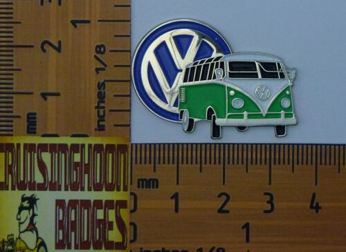 Green Kombi Split Window Karavan Quality Lapel Pin Badge