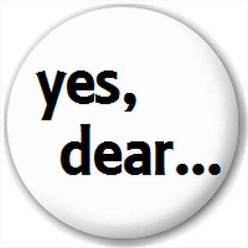 Small 25mm Lapel Pin Button Badge Novelty Yes Dear...