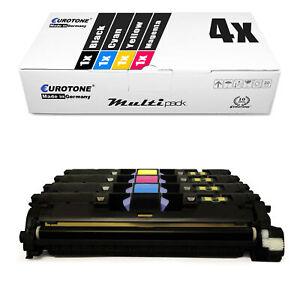 4x eurotone Eco Toner pour HP Color LaserJet 2550-l 2840-aio 2820-aio 2550-n