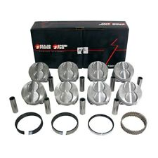 Speed Pro H273cp40 Ford Sbf 289 302 Flat Top Pistons Moly Rings Kit 4040