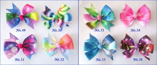 """50 BLESSING Good Girl Boutique 3.25/"""" Abby Rainbow Hair Bows Clip Accessories"""