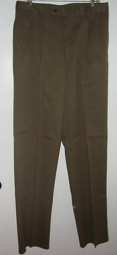 PALM BEACH OLIVE COTTON BLEND DRESS PANTS SZ 34 NWTGS