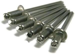 """QTY 250 POP Rivets ALL Steel 4-2 1//8/"""" x 1//8/"""" Grip Range Zinc Plated 42"""