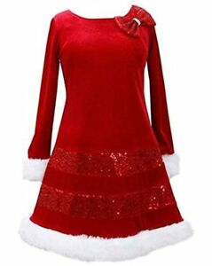 NWT-Girls-2T-BONNIE-JEAN-Mrs-Santa-Claus-CHRISTMAS-XMAS-Holiday-Party-Dress
