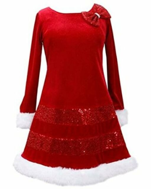 NWT Girls 2T BONNIE JEAN Mrs Santa Claus CHRISTMAS XMAS Holiday Party Dress
