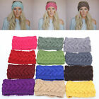 Fashion Winter Women Ear Warmer Headwrap Crochet Headband Knit Flower Hairband