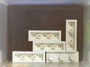 White Plate 1 x 3 LEGO Parts No 3623 QTY 10