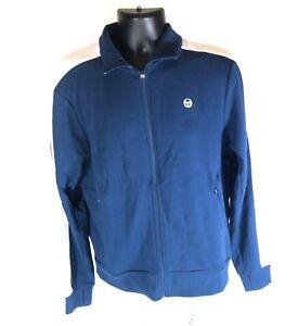 New-Mens-Sergio-Tacchini-Navy-Zip-Up-Tennis-Track-Jacket-Sizes-Medium-Large-98