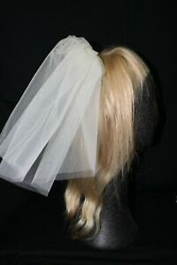 NEW short dark ivory double layer poofy bridal veil, $140