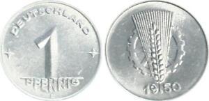 Rda 1 Peniques 1950E, Pieza (2) sin Circulación, Pieza Única