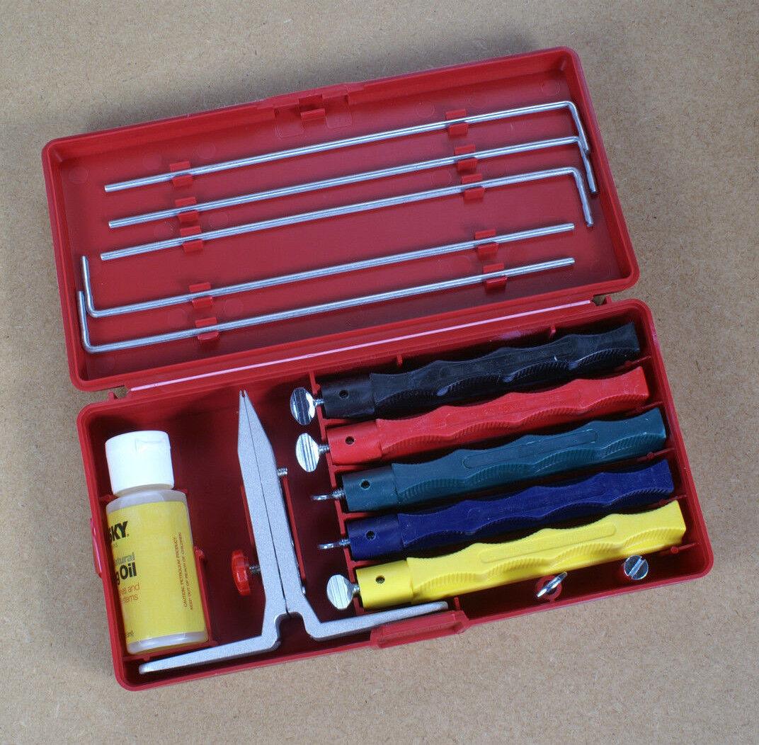 Lansky-Schärfset Deluxe-Set mit mit mit 5 Keramik-Abziehsteinen Messer schleifen Y20 0cf55f
