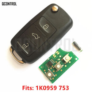 Car Remote Control Key Fob For Skoda Octavia Ii 1k0959753 Keyless Entry 434mhz