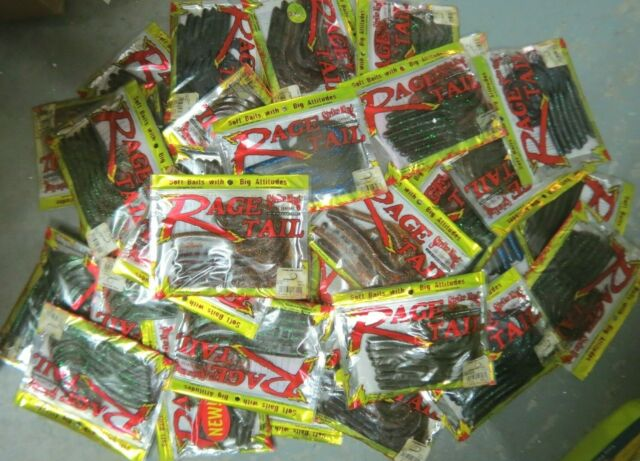 "BULK ASSORTMENT 55 Packs OF 7 STRIKE KING RAGE TAIL 7/"" SOFT BAITS"