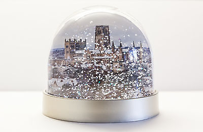 Snow Globe Durham Cathedral in the snow and Prebends bridge, Durham snow shaker