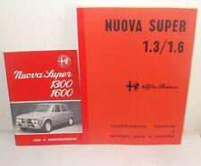 Uso e manutenzione Alfa Romeo Giulia Nuova Super + Manuale Officina meccanica-