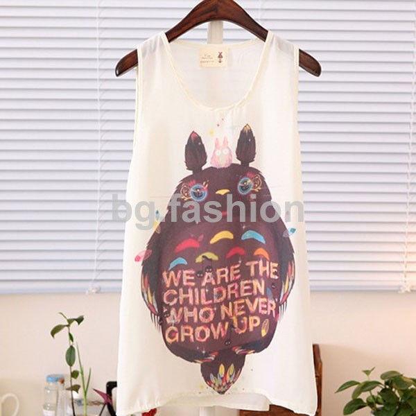 S-XXL Sweet Women Girl Chiffon Sleeveless Shirt Casual Cami Tank Vest Top Blouse
