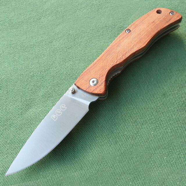 Bee Messer L05-1 EDC Taschenmesser Rosenholz 8Cr13mov-Stahl Holz Griff