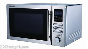 Image Is Loading Sharp R84ao 220 240 Volt 25l Microwave Convection