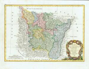 1783 CARTE DE LORRAINE ET D'ALSACE Map of France LORRAINE ALSACE Region (JM) | eBay