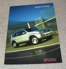 Toyota Landcruiser Brochure 2003 - LC2 LC3 LC4 LC5 Amazon 3.0 D4D 4.0 4.2 4.7 V8