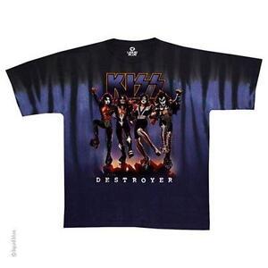 shirt T Simmons Officielle Import Et Bisou Cravate Rock Teinture Licence Destructeur YHUw4RxBq