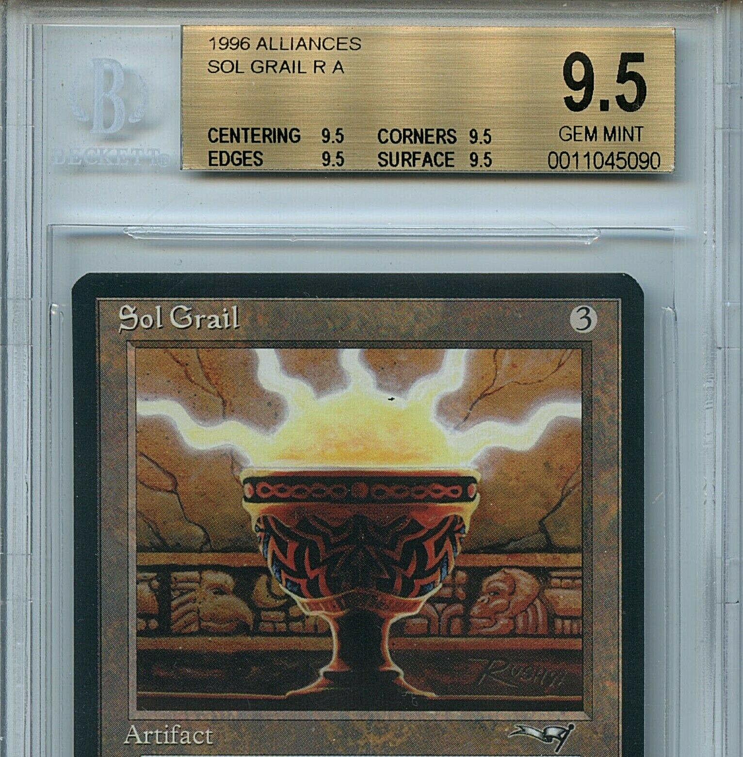 MTG Sol Grail BGS 9.5 Gem Mint Alliances Magic Card Card Card Amricons True Quad 5090 7fb5e2