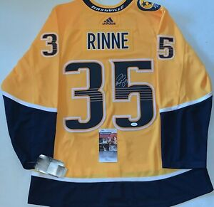 separation shoes baa1f cbdda Details about Pekka Rinne signed Nashville Predators Adidas Authentic  Adizero jersey Preds JSA