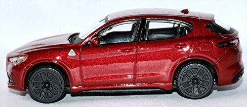 Alfa Romeo Stelvio type 949 SUV 2017-19 Rouge Red Metallic 1:43 Bburago
