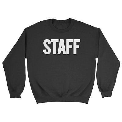 NYC FACTORY Staff Men's Sweatshirt Screen Printed USA Black & White Soft Shirt | eBay