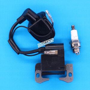 Pocketbike-Zuendspule-49ccm-Dirt-Bike-Zuendstecker-Quad-Magnetzuendung-Zuendkerze