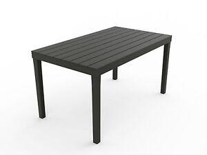 gartentisch sumatra grau wetterfest tisch 140 x 80 cm balkontisch holz optik ebay. Black Bedroom Furniture Sets. Home Design Ideas