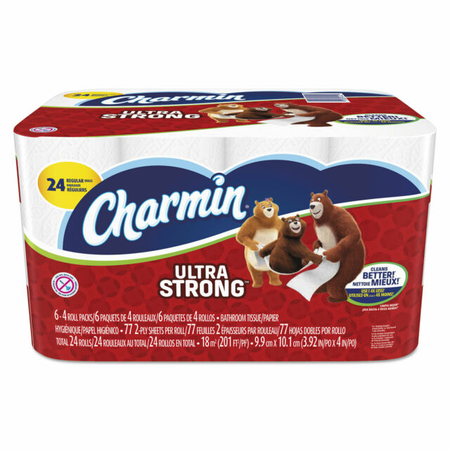 Charmin Ultra Strong Bathroom Tissue 2-Ply 4 x 3.92 77/Roll 24 Roll/Pack 94142CT