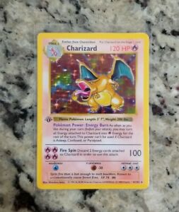 Pokemon-1ST-EDITION-SHADOWLESS-Charizard-Base-Set-4-102-READ-DESCRIPTION