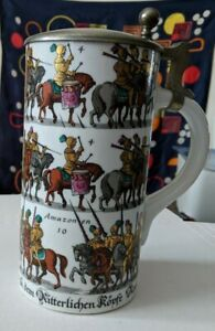 German-Lidded-Beer-Stein-Porcelain-made-in-Germany-March-of-the-Amazons