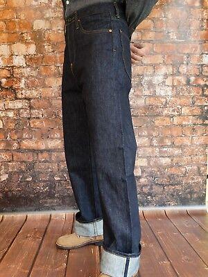 Bello Quartiermastro Denim Jeans Anni 30 Anni Stile Rockabilly Us Army Nose Art X-long Materiali Accuratamente Selezionati