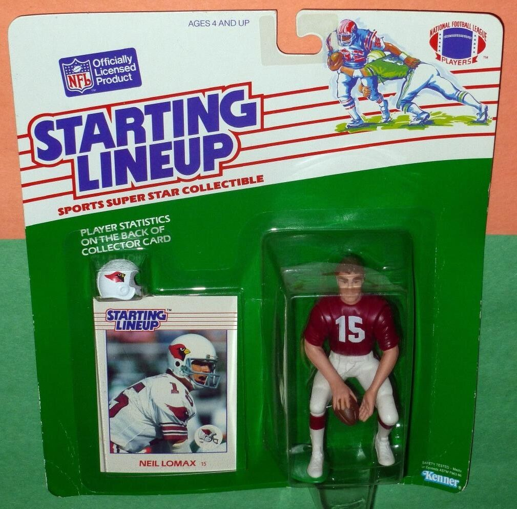 1988 NEIL LOMAX Phoenix Arizona Cardinals Rookie Starting Lineup squat pose