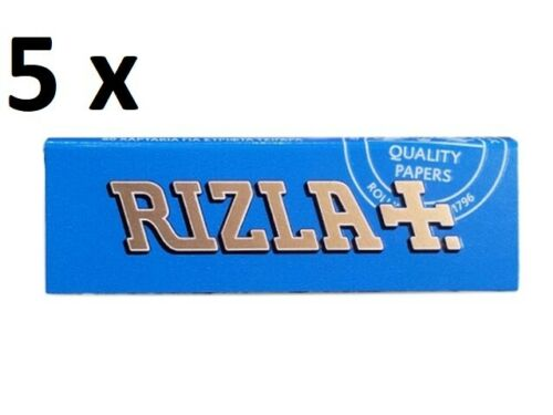 Classic Blue Rizla Rolling papers Standard size 50sheets//Booklet pcs 2//5//10//100