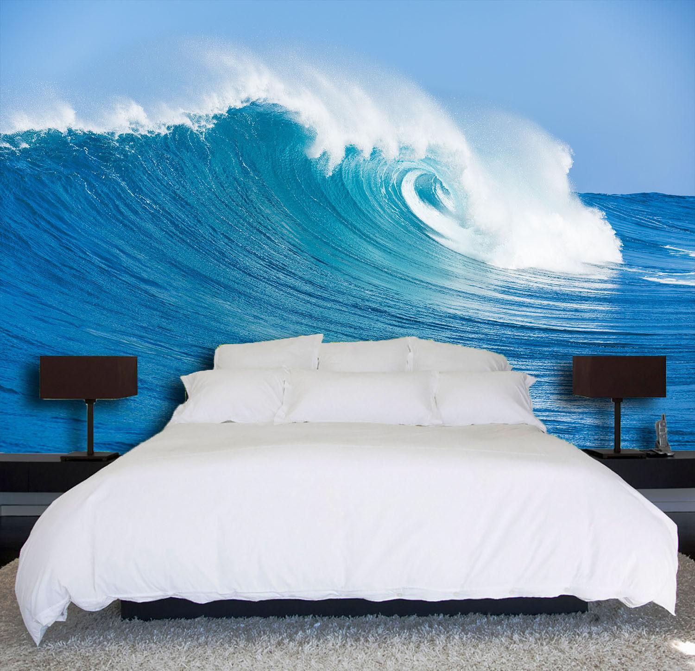 3D Blau Sky Waves 933 Wallpaper Mural Paper Wall Print Wallpaper Murals UK Lemon