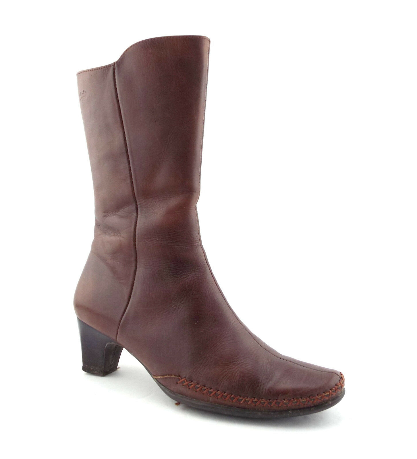 PIKOLINOS Size Zip 7.5 Brown Leather High Ankle Zip Size Up Boots 38 57b300
