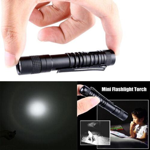 Mini Pocket 8000LM Flashlight Clip AAA XPE-R3 LED Lamp Belt Pen Light Torch Lamp