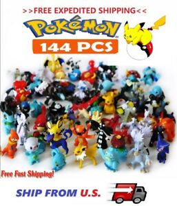 Pikachu Pokemon144 Mini Figures Pokémon Toys KID GIFT  >>FREE EXPEDITED SHIP<<
