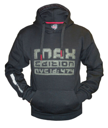 Mens Fleece Hoodie Max Edition MSW 16 Hooded Jumper Sweatshirt Top Pullover