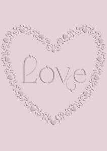 love heart lace border stencil vintage template card making paint